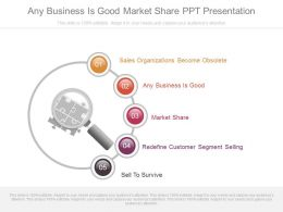 Any Business Is Good Market Share Ppt Presentation