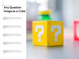 Any Question Image As A Cube