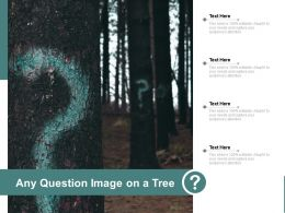 Any Question Image On A Tree