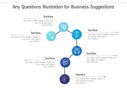 Any Questions Illustration For Business Suggestions Infographic Template