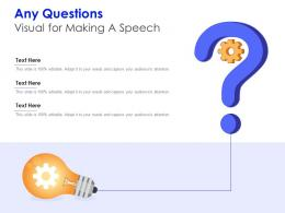 Any Questions Visual For Making A Speech Infographic Template
