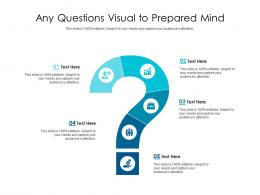 Any Questions Visual To Prepared Mind Infographic Template