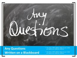 Any Questions Written On A Blackboard