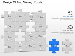 Ao Design Of Two Missing Puzzle Powerpoint Template Slide