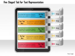 Ao Five Staged Tab For Text Representation Powerpoint Templets