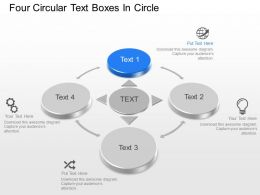 Ao Four Circular Text Boxes In Circle Powerpoint Template