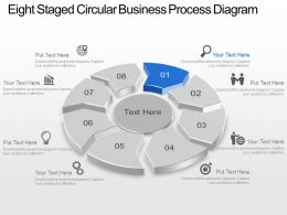 Ap Eight Staged Circular Business Process Diagram Powerpoint Template Slide