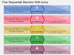ap Five Sequential Banners With Icons Flat Powerpoint Design