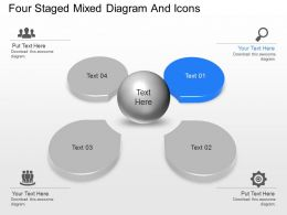 ap Four Staged Mixed Diagram And Icons Powerpoint Template