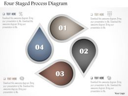 Ap Four Staged Process Diagram Powerpoint Template