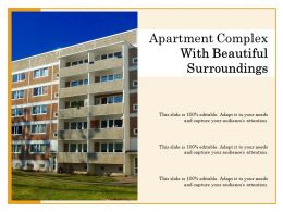 Apartment Complex With Beautiful Surroundings
