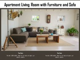 Apartment Living Room With Furniture And Sofa
