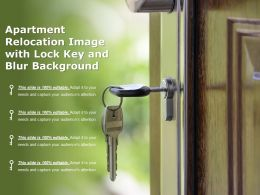 Apartment Relocation Image With Lock Key And Blur Background