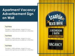 Apartment Vacancy Advertisement Sign On Wall