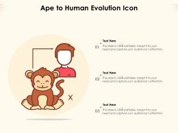 Ape To Human Evolution Icon