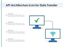 API Architecture Icon For Data Transfer