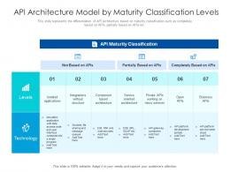 API Architecture Model By Maturity Classification Levels