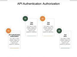 API Authentication Authorization Ppt Powerpoint Presentation File Layout Ideas Cpb