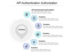 API Authentication Authorization Ppt Powerpoint Presentation Slides Infographics Cpb
