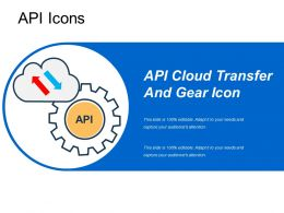 Api Cloud Transfer And Gear Icon