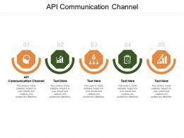 Api Communication Channel Ppt Presentation Infographics Layout Ideas Cpb