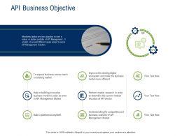 API Ecosystem API Business Objective Ppt Powerpoint Presentation Styles Maker