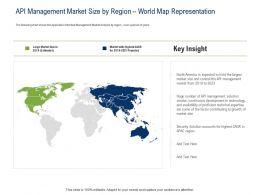 API Ecosystem API Management Market Size By Region World Map Representation Ppt Powerpoint Presentation Aids