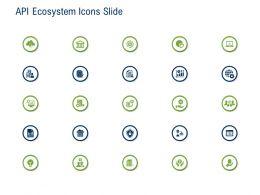 API Ecosystem Icons Slide Ppt Powerpoint Presentation Inspiration Slide Portrait