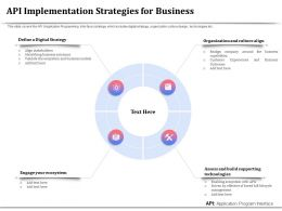 API Implementation Strategies For Business Ecosystem Ppt Presentation Summary