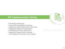 API Implementation Testing Interface Gateway Ppt Presentation Summary