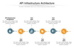 API Infrastructure Architecture Ppt Powerpoint Presentation Professional Ideas Cpb
