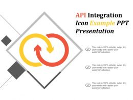 Api Integration Icon Example Ppt Presentation