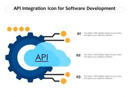 API Integration Icon For Software Development