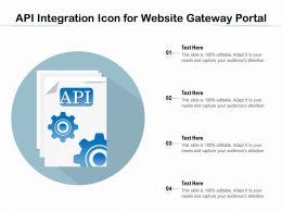 API Integration Icon For Website Gateway Portal