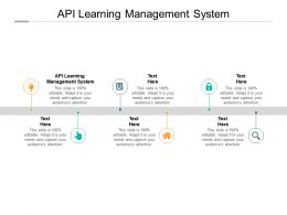 API Learning Management System Ppt Powerpoint Presentation Model Portrait Cpb