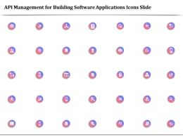 API Management For Building Software Applications Icons Slide Ppt Backgrounds