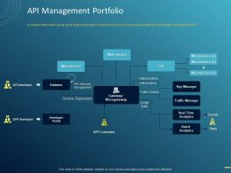 API Management Portfolio Ppt Powerpoint Presentation Icon Show