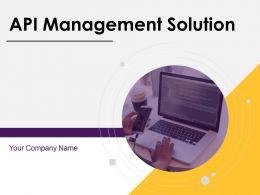API Management Solution Powerpoint Presentation Slides