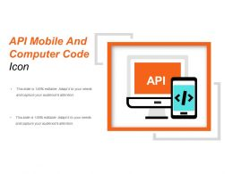 Api Mobile And Computer Code Icon