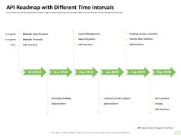 API Roadmap With Different Time Intervals Basic Statistics Ppt Graphics