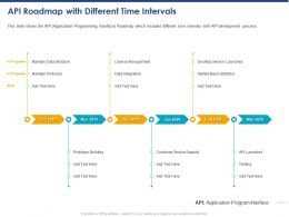 API Roadmap With Different Time Intervals Structure Ppt Powerpoint Presentation Template