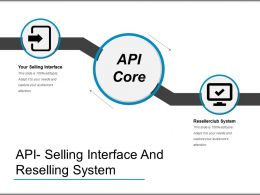 Api Selling Interface And Reselling System