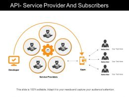 Api Service Provider And Subscribers