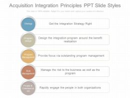 App Acquisition Integration Principles Ppt Slide Styles