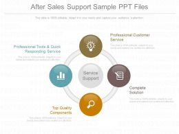 App After Sales Support Sample Ppt Files