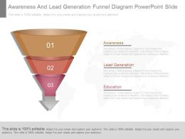 App Awareness And Lead Generation Funnel Diagram Powerpoint Slide