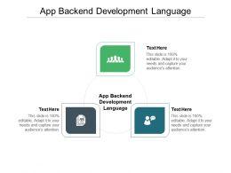 App Backend Development Language Ppt Professional Background Cpb