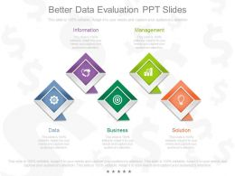 App Better Data Evaluation Ppt Slides