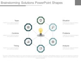 App Brainstorming Solutions Powerpoint Shapes