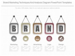 App Brand Marketing Techniques And Analysis Diagram Powerpoint Templates